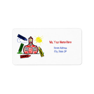 Teacher Address Label - Schoolhouse & Crayons