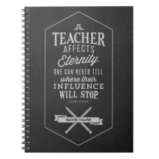 Teacher Affects Eternity Notebook