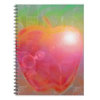 Teacher Apple Abstract Spiral Notebook