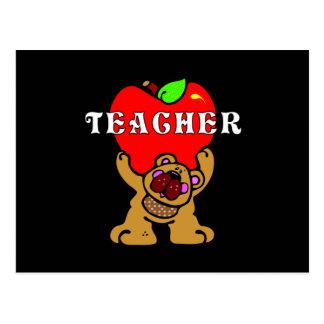 Teacher Apple Bear Postcard
