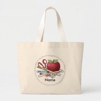 Teacher Apple Jumbo Tote Bag