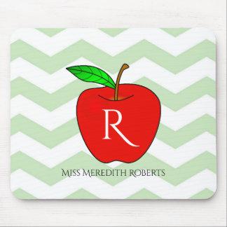 Teacher Apple Monogram Custom Mouse pads