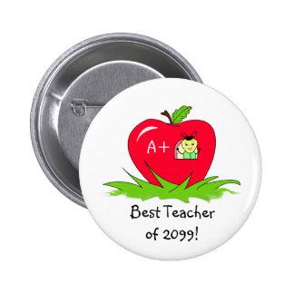 Teacher Appreciation Apple For Best Teacher 2 Inch Round Button