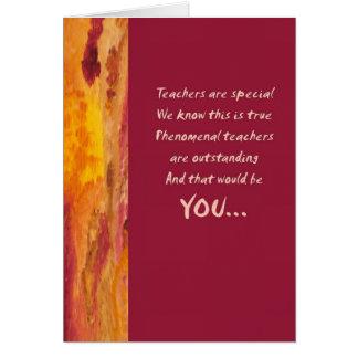 Teacher Appreciation Greeting Card