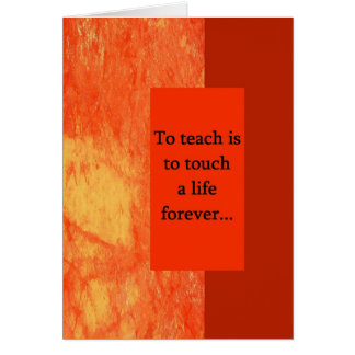 Teacher Appreciation Greeting Gard Card