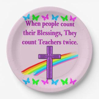 TEACHER APPRECIATION PAPER PLATE