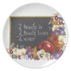 Teacher appreciation plate