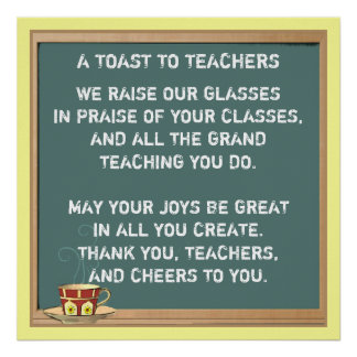 Teacher Appreciation Poem Poster