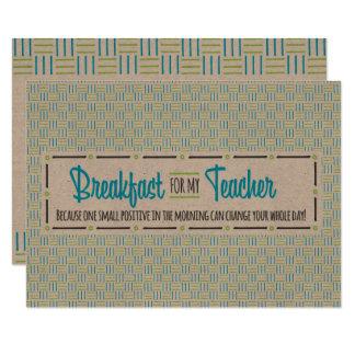 Teacher Appreciation Week Breakfast Card