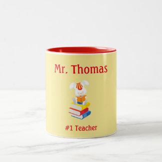 Teacher Appreciation Yellow and Red Two-Tone Coffee Mug