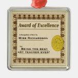 Teacher Award of Excellence Christmas Ornament
