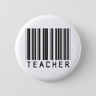 Teacher Bar Code 2 Inch Round Button