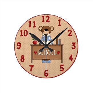 Teacher Bear Wall Clock