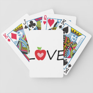 teacher bicycle playing cards