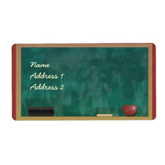 Teacher Blackboard Avery Label Shipping Label