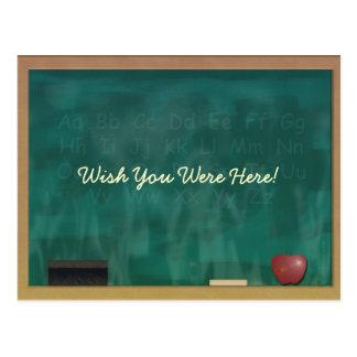 Teacher Blackboard Postcard