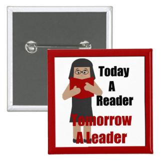 Teacher Book Lover Gal  Reader Leader Button 2