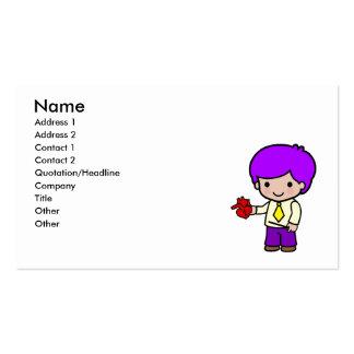 Teacher Boy Business Card Templates