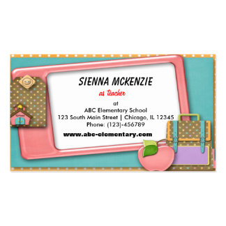 Teacher Double-Sided Standard Business Cards (Pack Of 100)