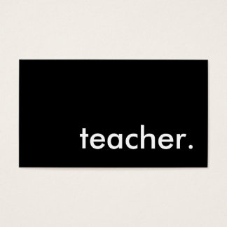 teacher. business card