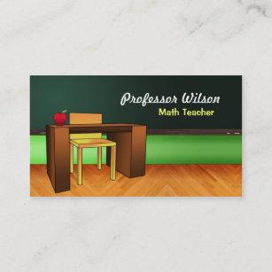 Math professor business cards business card printing zazzle ca teacher business cards reheart Gallery