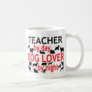 Teacher by Day Dog Lover by Night Basic White Mug