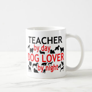 Teacher by Day Dog Lover by Night Classic White Coffee Mug