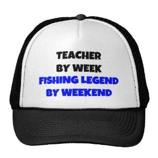 Teacher by Week Fishing Legend By Weekend Trucker Hat