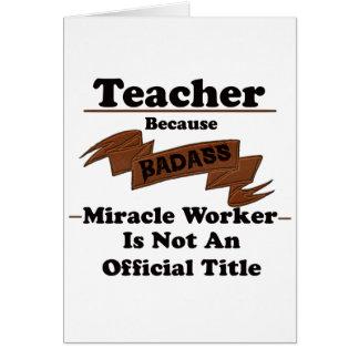 Teacher Card