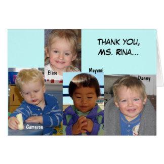 Teacher card - Rina