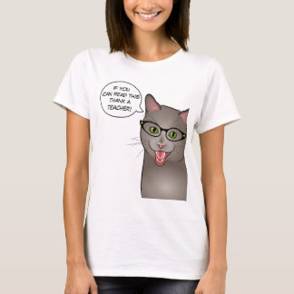 Teacher Cat Funny Customizable shirt