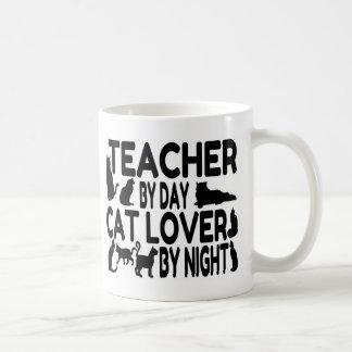 Teacher Cat Lover Basic White Mug