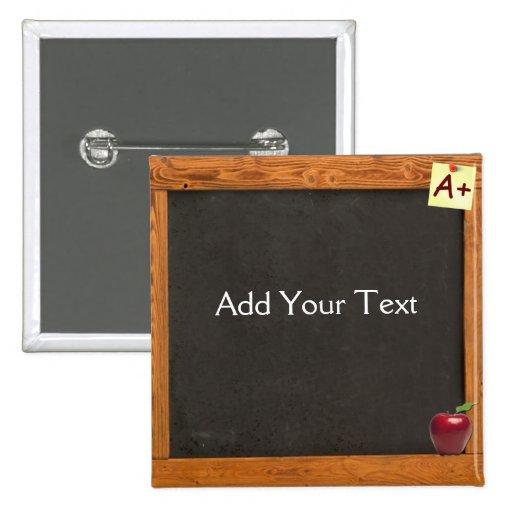 Teacher Chalkboard Button