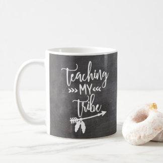 Teacher chalkboard tribal white typography script coffee mug