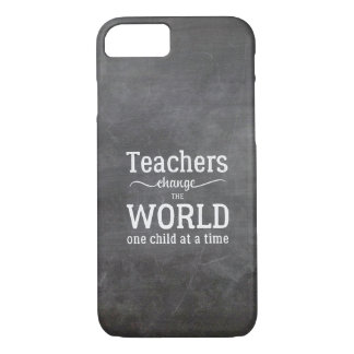 Teacher chalkboard white typography quote iPhone 7 case