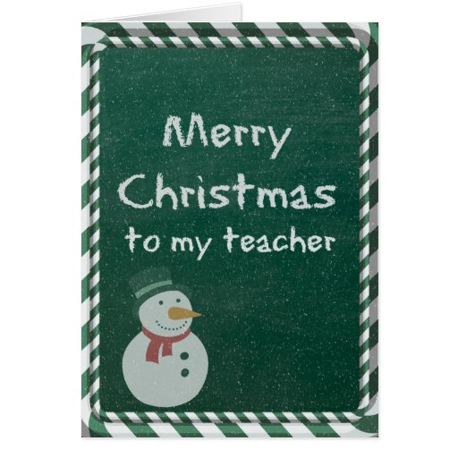Teacher Christmas Greeting Cards