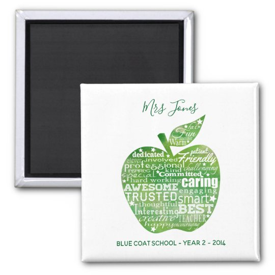 Teacher christmas gift appreciation magnet