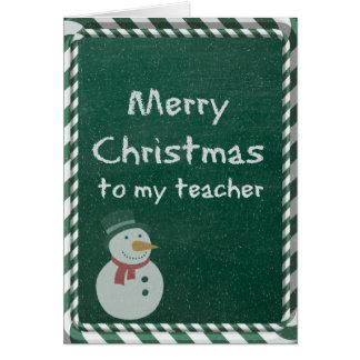 Teacher Christmas Greeting Card
