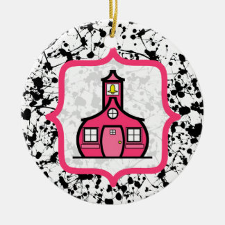 Teacher Christmas Ornament - Black Paint Splatter