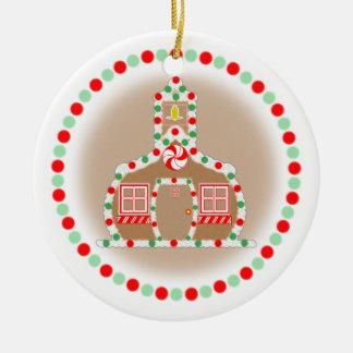 Teacher Christmas Ornament Gingerbread Schoolhouse