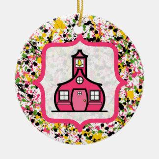 Teacher Christmas Ornament - Multicolor Splatter