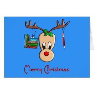 Teacher Christmas Reindeer--Adorable Gifts Card
