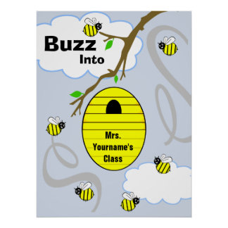 Teacher Classroom Poster - Bees And Bee Hive