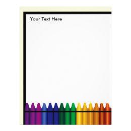 Teaching letterhead custom teaching letterhead templates teacher crayon design letterhead stationery spiritdancerdesigns Image collections