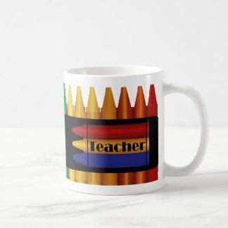 Teacher Crayon Design Mug