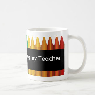 Teacher Crayon Design Mug 3