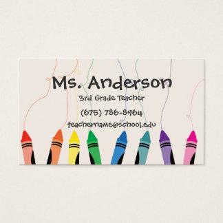 Teacher Crayons Business Card