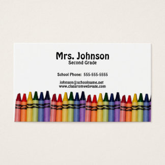 Teacher Crayons Template Business Card