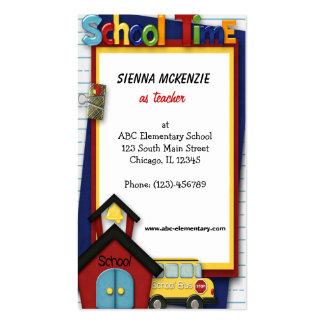 Teacher Elementary School Business Card Template