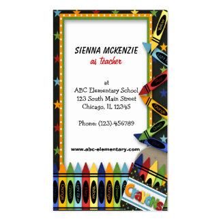Teacher Elementary School Business Cards
